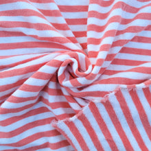 Load image into Gallery viewer, *PREORDER* 3-4 weeks - Sponge Terry - Coral Stripes