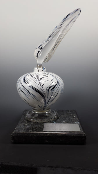Ink Bottle & Quill Award - Rosetree Blown Glass Studio and Gallery | New Orleans