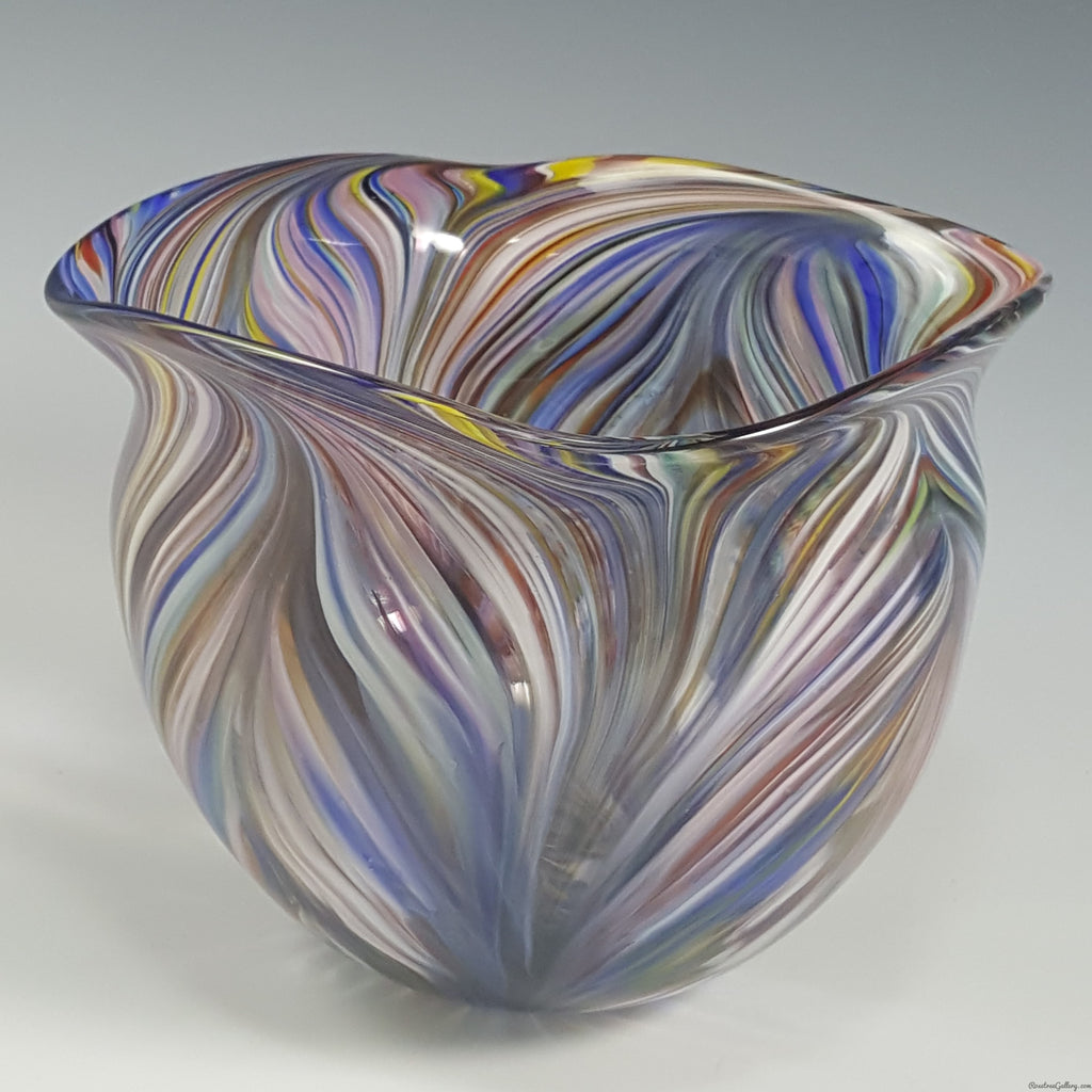 Peacock Bowl - Rosetree Blown Glass Studio and Gallery | New Orleans