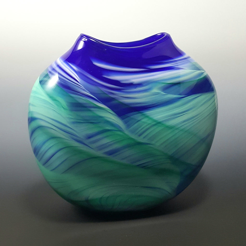 Medallion Vase - Rosetree Blown Glass Studio and Gallery