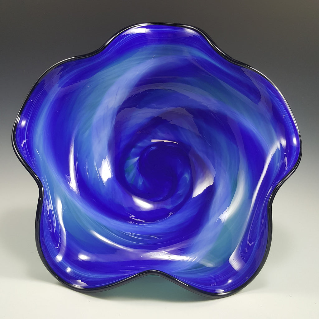 Wavy Bowl - Rosetree Blown Glass Studio and Gallery