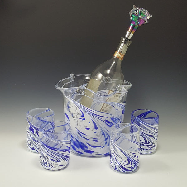 Ice Bucket - Rosetree Blown Glass Studio and Gallery | New Orleans
