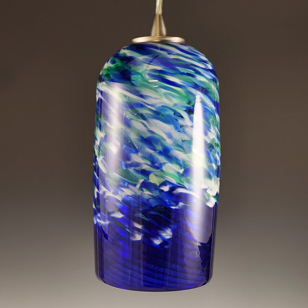 Spiral Pendant Light - Rosetree Blown Glass Studio and Gallery | New Orleans