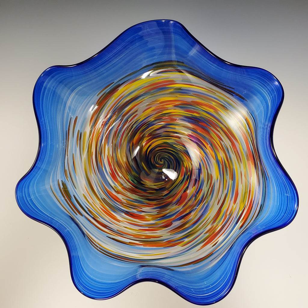 Fluted Primo Bowl - Rosetree Blown Glass Studio and Gallery | New Orleans