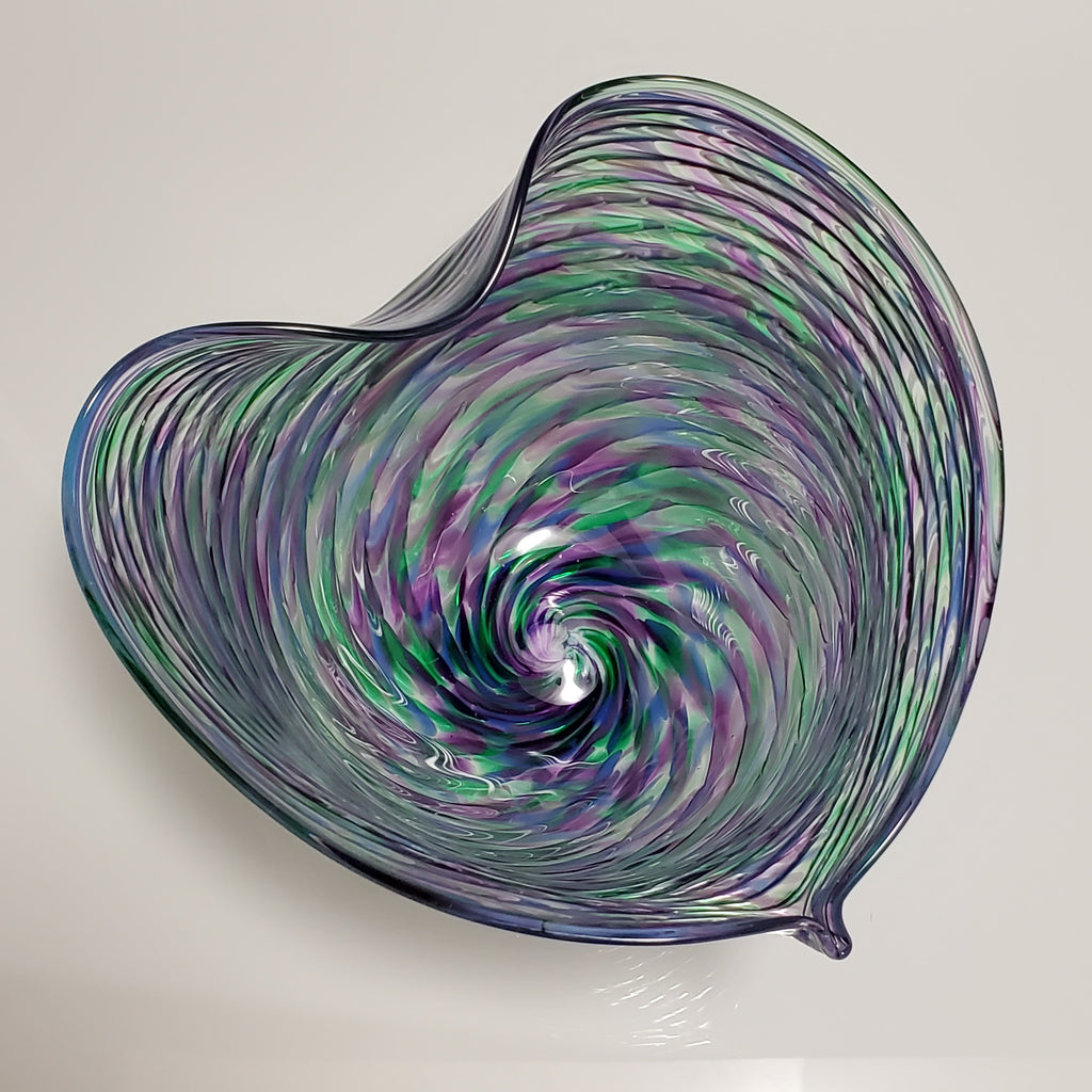 Heart Bowl - Rosetree Blown Glass Studio and Gallery | New Orleans