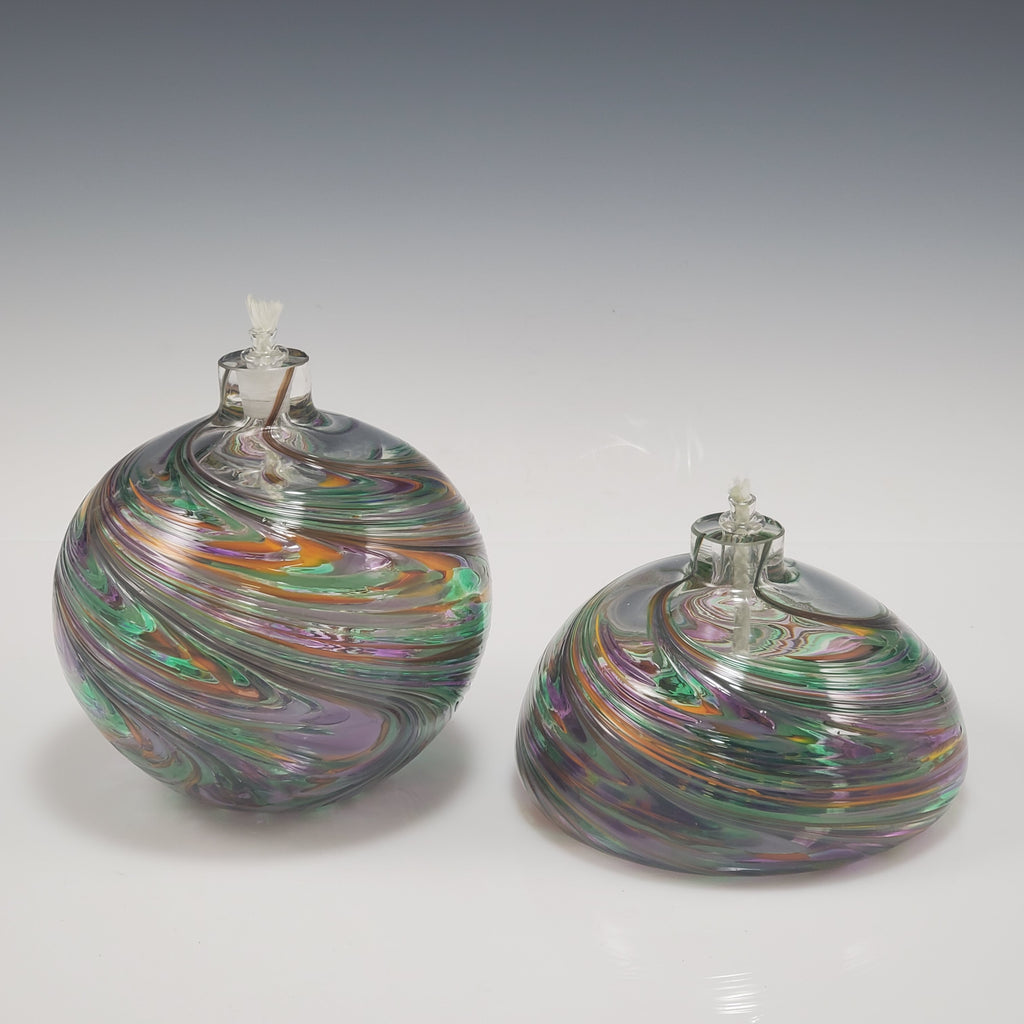 Carnival Oil Candle - Rosetree Blown Glass Studio and Gallery | New Orleans
