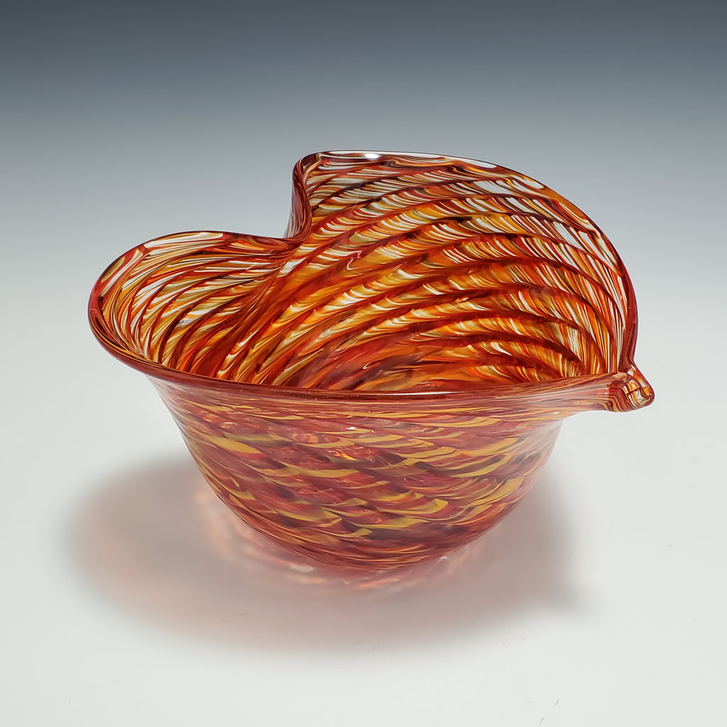 Heart Bowl - Rosetree Blown Glass Studio and Gallery