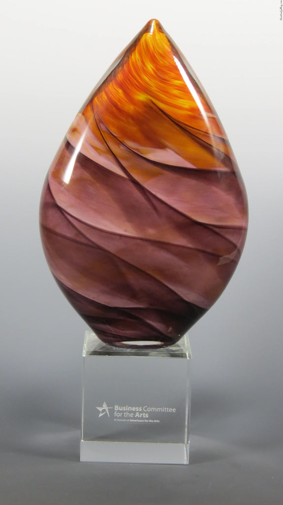 Teardrop Award - Rosetree Blown Glass Studio and Gallery | New Orleans