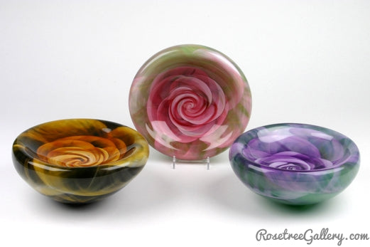 Rose Bowl - Rosetree Blown Glass Studio and Gallery | New Orleans