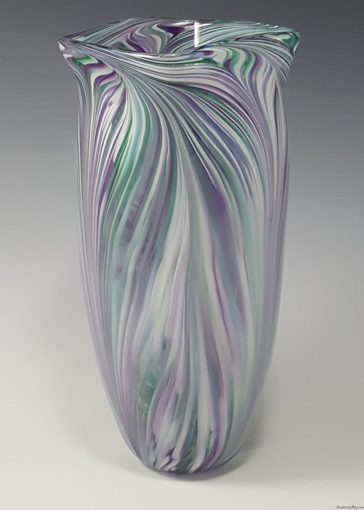 Peacock Vase - Rosetree Blown Glass Studio and Gallery | New Orleans