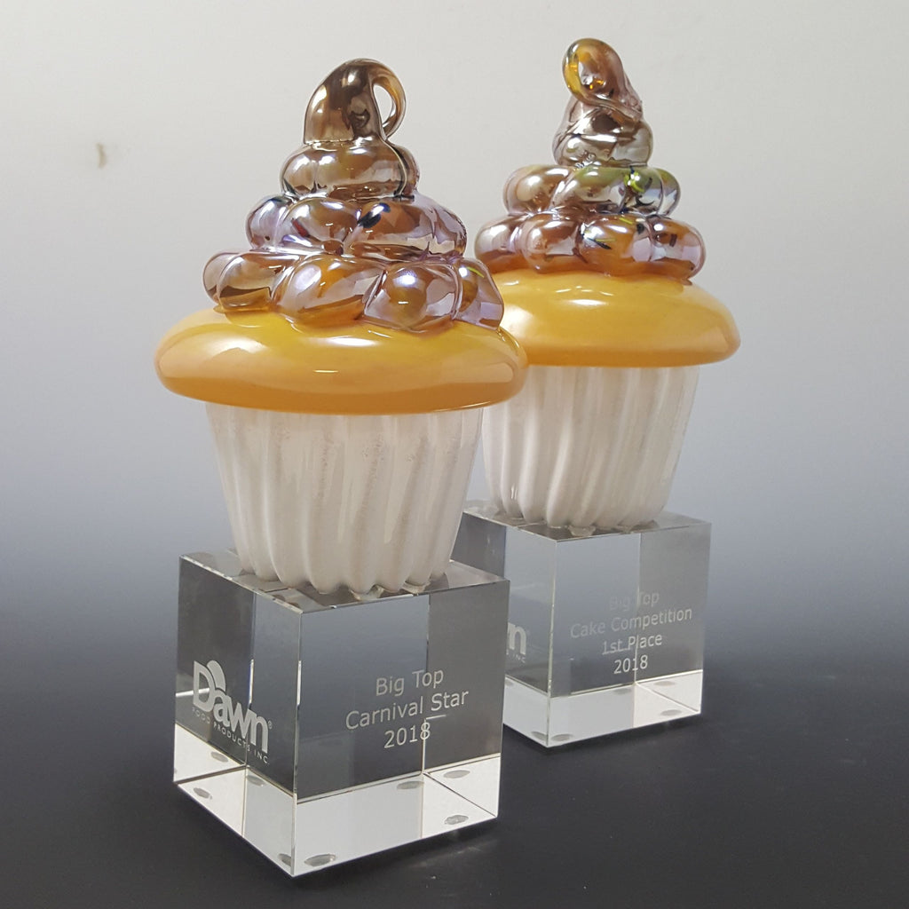 Cupcake Award - Rosetree Blown Glass Studio and Gallery | New Orleans