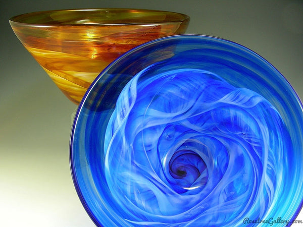 Deep Bowl - Rosetree Blown Glass Studio and Gallery