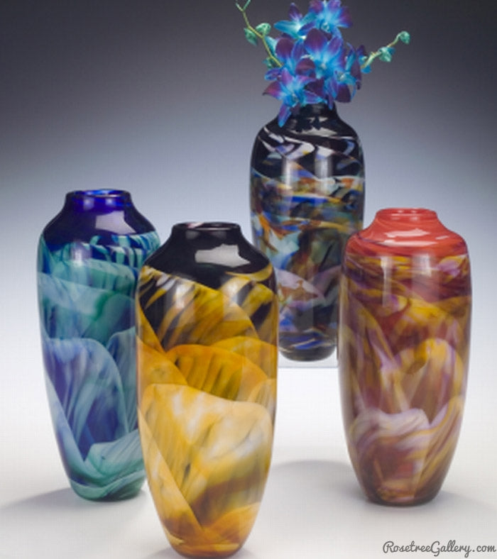 Classic Dreamscape Vase - Rosetree Blown Glass Studio and Gallery | New Orleans