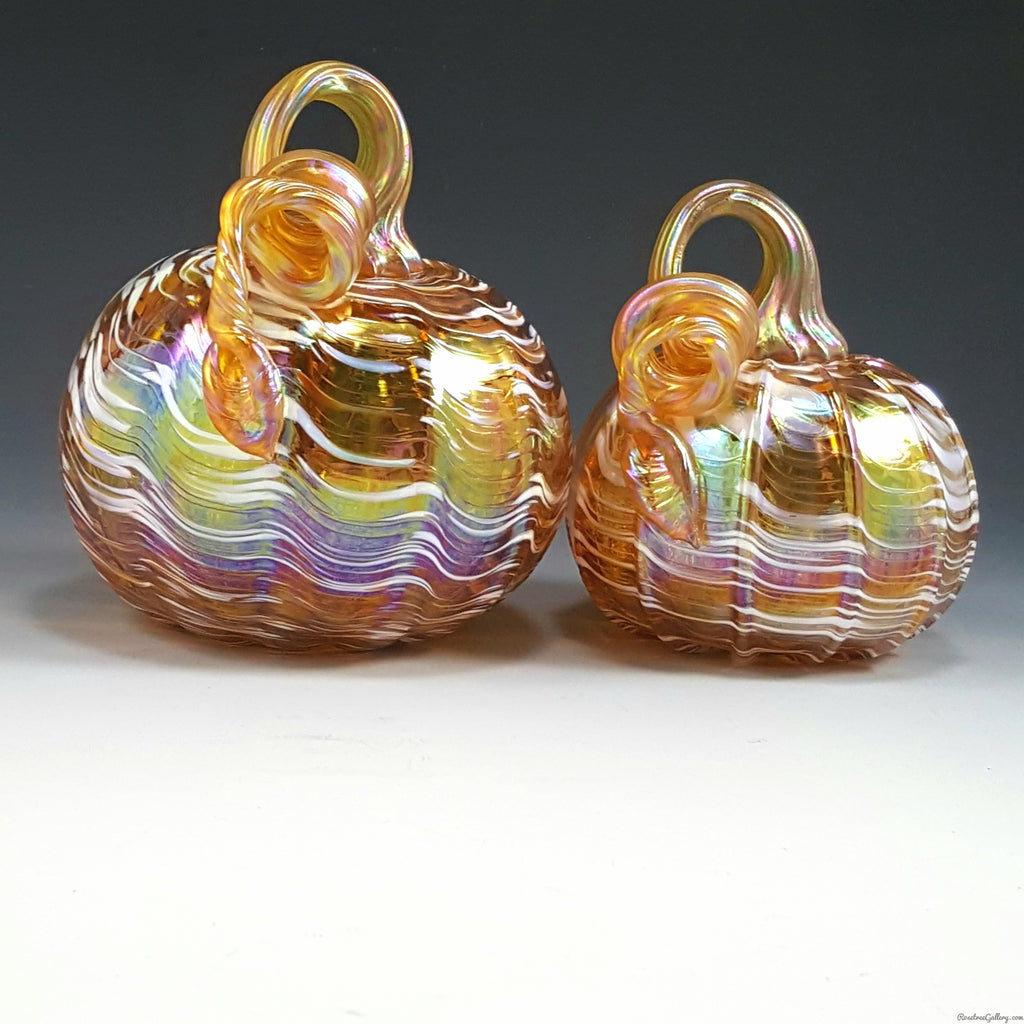 Iridescent Pumpkins - Rosetree Blown Glass Studio and Gallery | New Orleans