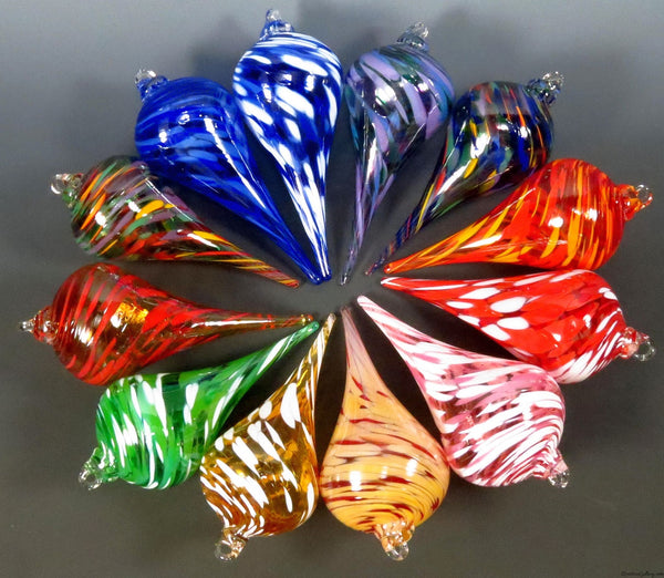 Pointed Ornaments - Rosetree Blown Glass Studio and Gallery | New Orleans