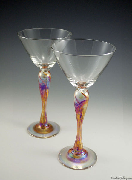 Martini Glass - Rosetree Blown Glass Studio and Gallery | New Orleans
