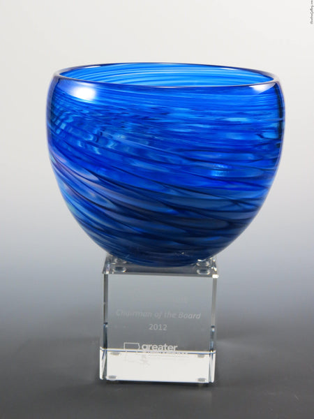 Deep Bowl Award - Rosetree Blown Glass Studio and Gallery | New Orleans