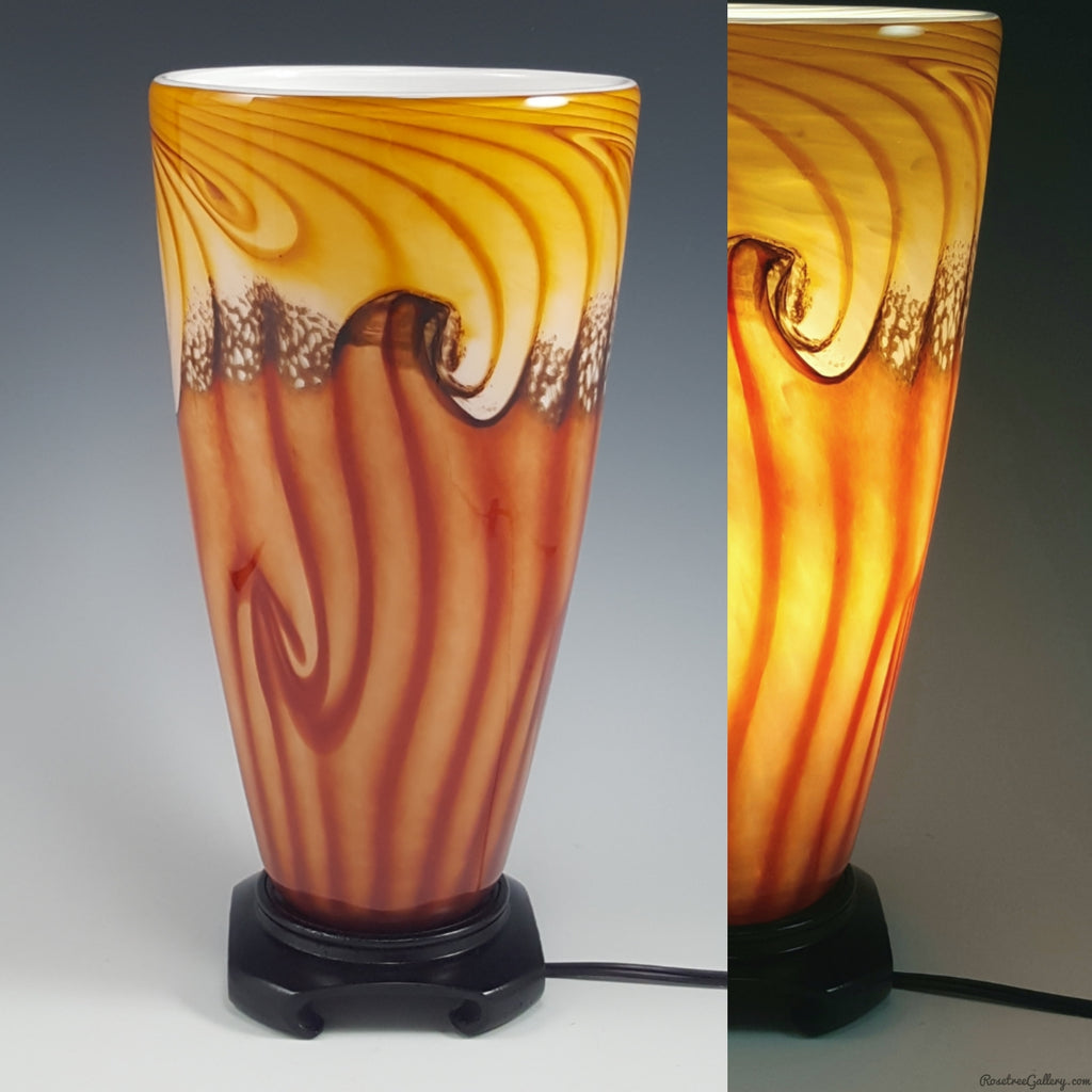 Tall Uplight - Rosetree Blown Glass Studio and Gallery | New Orleans