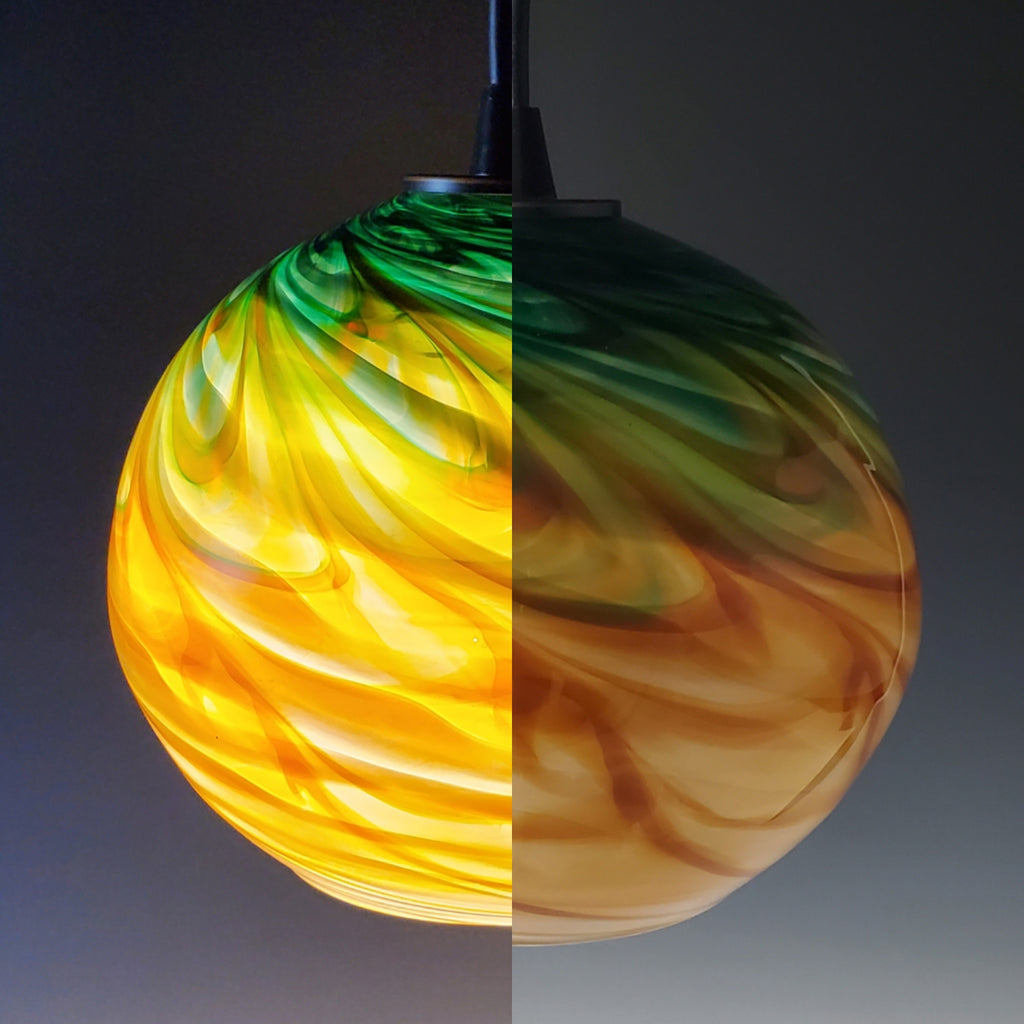 Optic Pendants - Rosetree Blown Glass Studio and Gallery | New Orleans