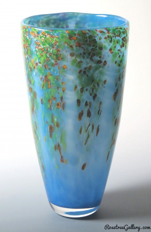 Wisteria Vases - Rosetree Blown Glass Studio and Gallery