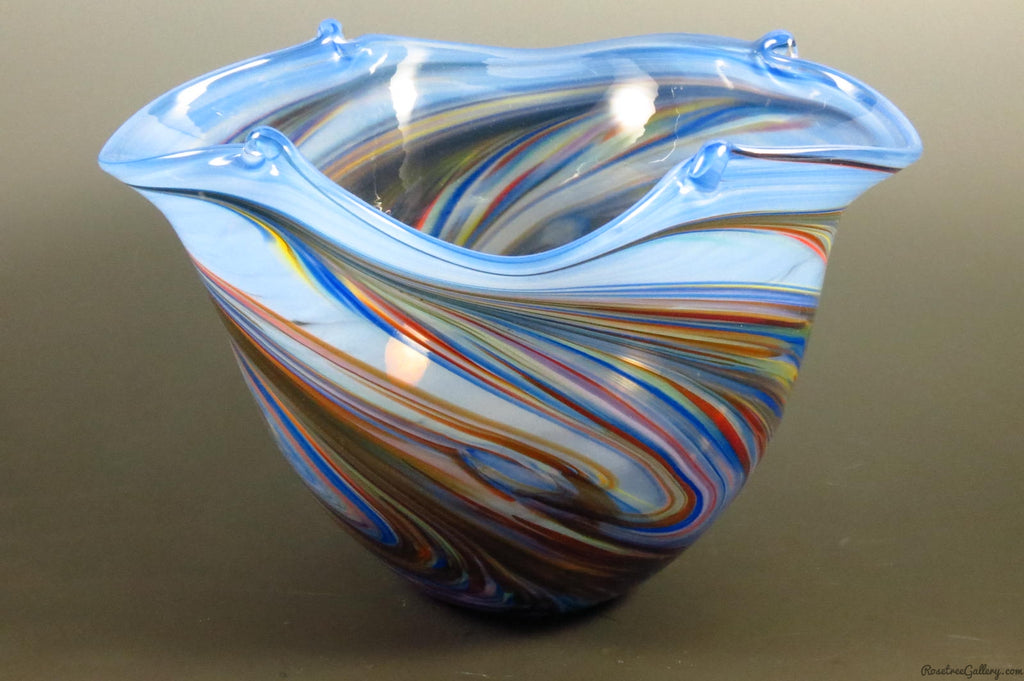 Color Pinched Bowls - Rosetree Blown Glass Studio and Gallery | New Orleans