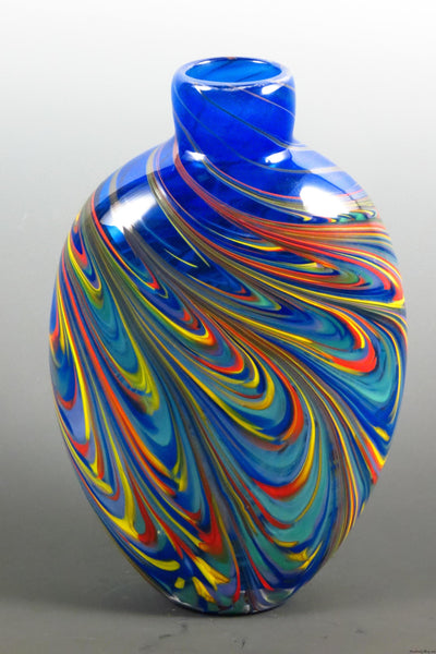 Flat Feather Bud Vase Tall - Rosetree Blown Glass Studio and Gallery | New Orleans
