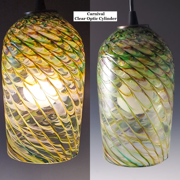 Clear Optic Pendant - Rosetree Blown Glass Studio and Gallery | New Orleans