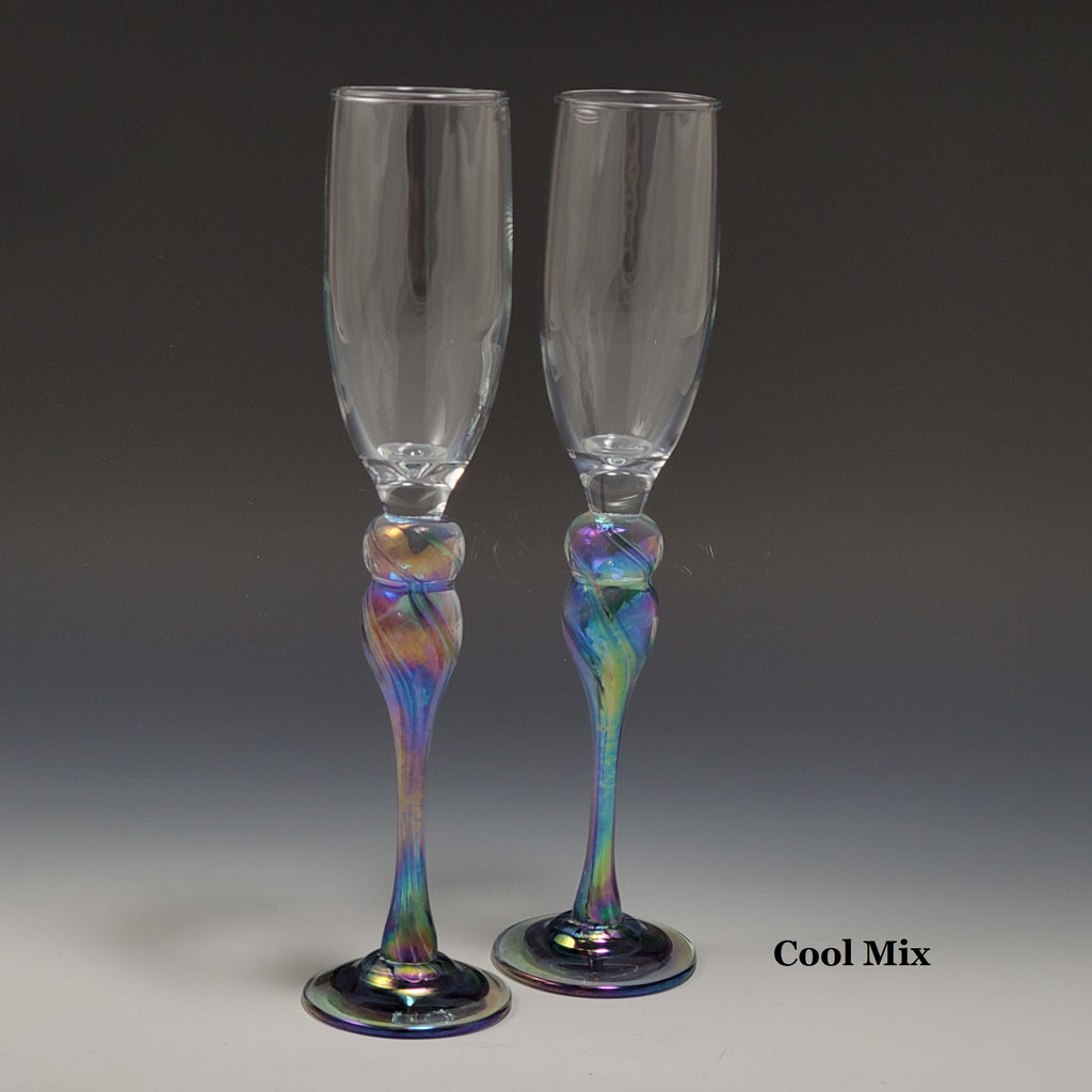 Champagne Glass - Rosetree Blown Glass Studio and Gallery | New Orleans