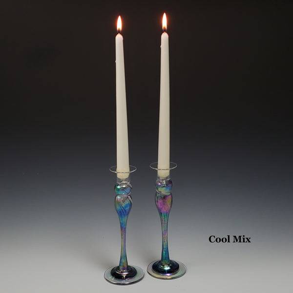 Candlestick Pair - Rosetree Blown Glass Studio and Gallery | New Orleans