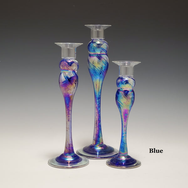 Candlestick Trio - Rosetree Blown Glass Studio and Gallery | New Orleans