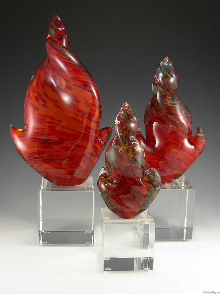 Flame Award - Rosetree Blown Glass Studio and Gallery | New Orleans