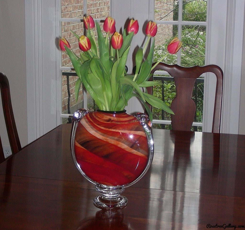 M&M Vase - Rosetree Blown Glass Studio and Gallery | New Orleans