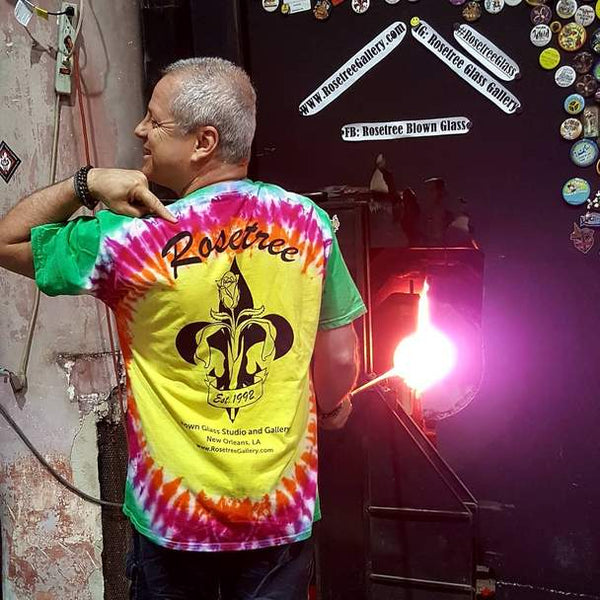 Rosetree Glass Studio T-Shirt - Rosetree Blown Glass Studio and Gallery | New Orleans