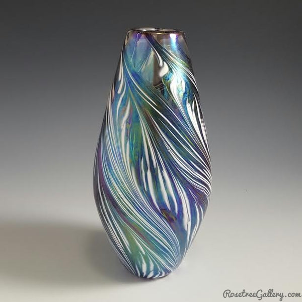 Petal Vase Narrow - Rosetree Blown Glass Studio and Gallery | New Orleans