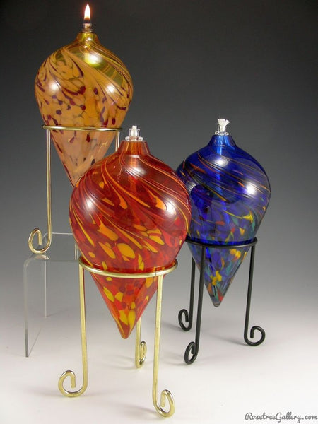 Pointed Oil Candle - Rosetree Blown Glass Studio and Gallery | New Orleans