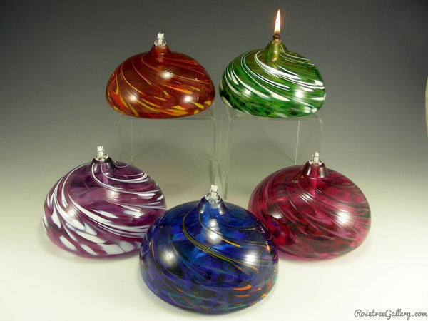 Flat Oil Candle - Rosetree Blown Glass Studio and Gallery | New Orleans