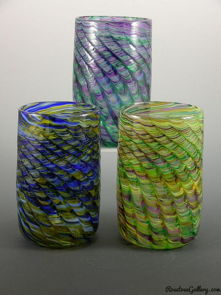 Optic Tumblers - Rosetree Blown Glass Studio and Gallery | New Orleans