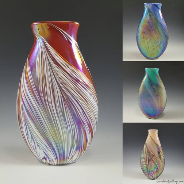 Petal Vase Flat - Rosetree Blown Glass Studio and Gallery | New Orleans