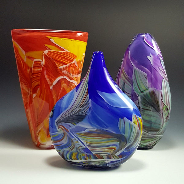 Petite Transformation Vases - Rosetree Blown Glass Studio and Gallery | New Orleans