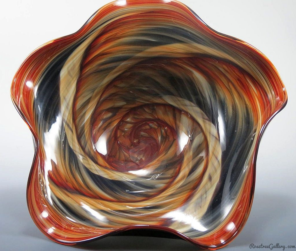 Wavy Bowl - Rosetree Blown Glass Studio and Gallery | New Orleans