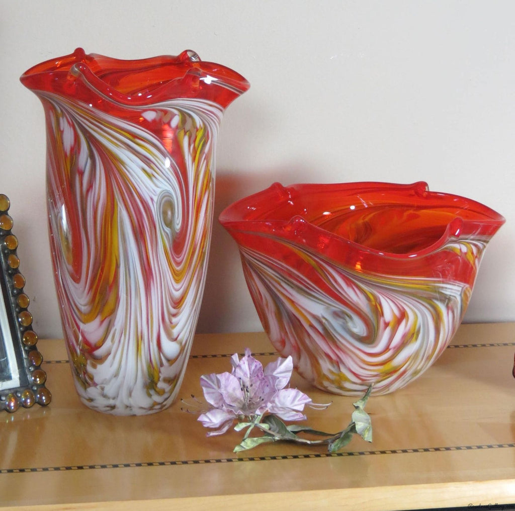 Color Pinched Vase - Rosetree Blown Glass Studio and Gallery | New Orleans