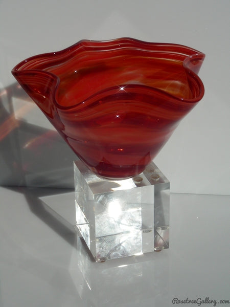Fluted Bowl Award - Rosetree Blown Glass Studio and Gallery | New Orleans
