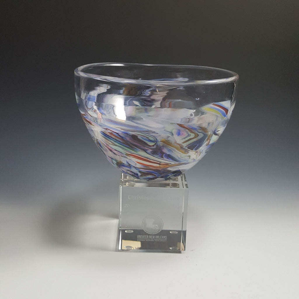 Shard Bowl Award - Rosetree Blown Glass Studio and Gallery | New Orleans