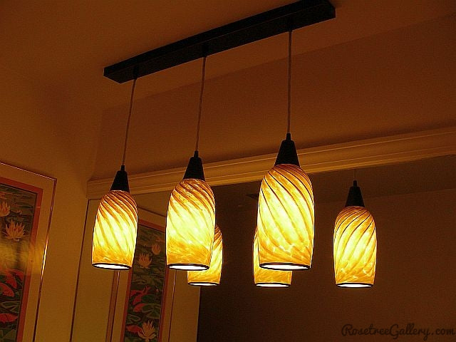 Striped Pendants - Rosetree Blown Glass Studio and Gallery | New Orleans