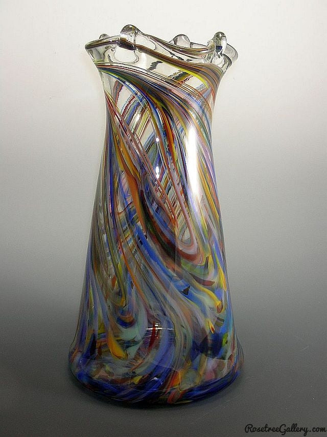 Tower Vase - Rosetree Blown Glass Studio and Gallery | New Orleans
