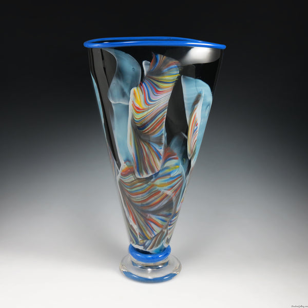 Transformation Fan Vase - Rosetree Blown Glass Studio and Gallery | New Orleans