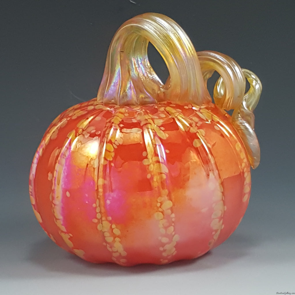 Color Striped Pumpkins - Rosetree Blown Glass Studio and Gallery | New Orleans