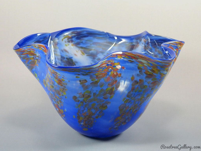 Wisteria Fluted Bowl - Rosetree Blown Glass Studio and Gallery | New Orleans