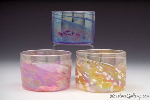 Rice Bowls - Rosetree Blown Glass Studio and Gallery | New Orleans