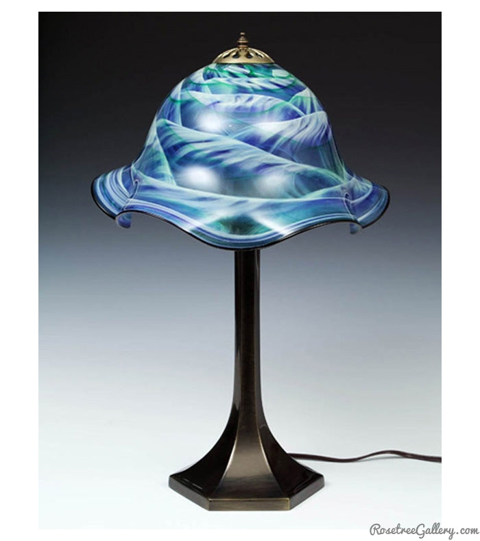 Lampshade with Metal Base - Rosetree Blown Glass Studio and Gallery | New Orleans